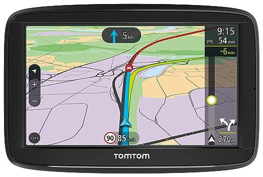 TomTom Via 52 Europe Traffic GPS (13 cm (5 Pouces), Commande Vocale, Bluetooth Mains Libres, Aide à la Conduite, 3 Mois Radar Caméras (sur Demande), Cartes de 48 Pays d'Europe) Noir - Produit Import