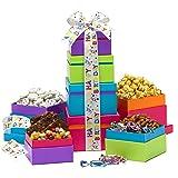 Broadway Basketeers Gift Tower, Happy Birthday Wishes (Color: Happy Birthday Wishes, Tamaño: 3 Pound)