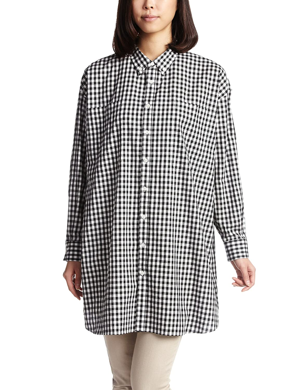 Amazon.co.jp: (リリーリン)Lilly Lynque Oxord long shirts 8209721 Blue 38: Amazonファッション通販