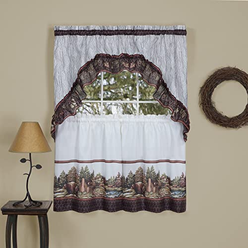 Woodlands Curtain Tier Swag Set