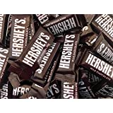 Hershey's Milk Chocolate Snack Size Bars, 0.45 Ounces Bar (Pack of 2 Pounds)