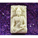BUDDHA SILICONE MOLD SOAP RESIN WAX PLASTER CLAY FIMO LOTUS