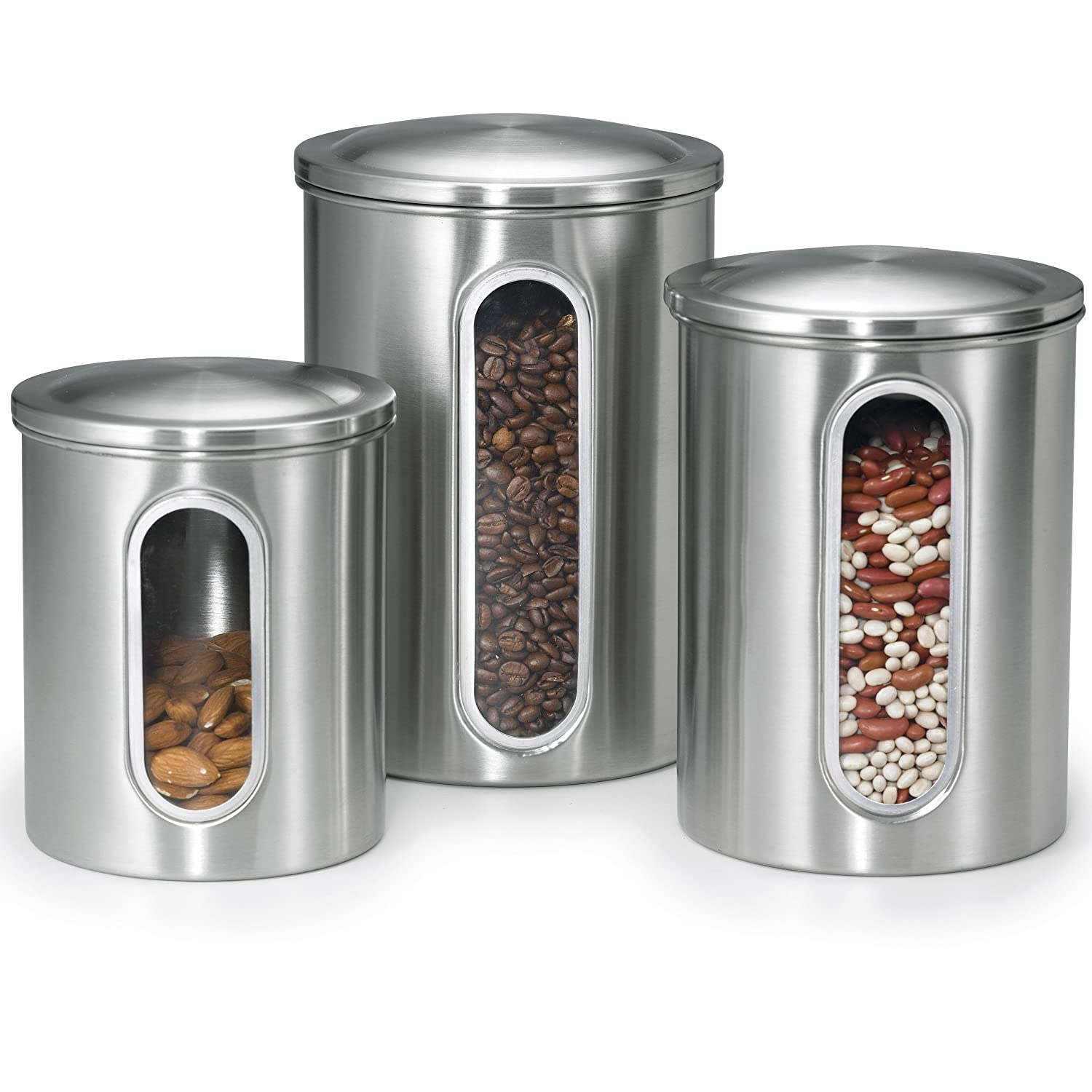Best kitchen storage containers gorgeous canister sets for Kitchen counter set