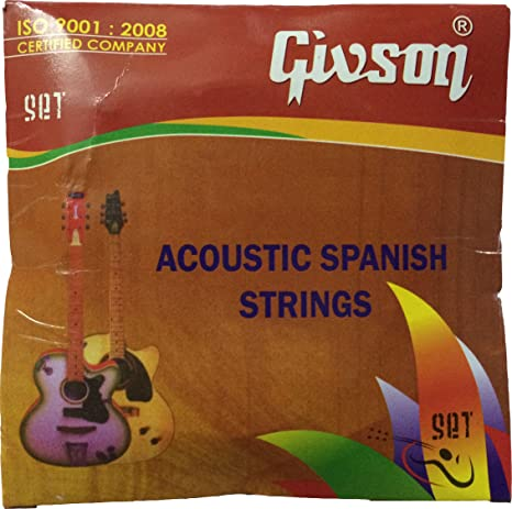 Guitar Strings Givson  Acoustic Strings  Set Of 6 Strings available at Amazon for Rs.132