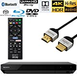 NeeGo Sony UBP-X700 Streaming 4K Ultra HD 3D Hi-Res Audio Wi-Fi And Bluetooth Built-In Blu-ray Player With A 4K HDMI Cable And Remote Control- Black