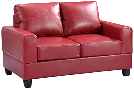 Glory Furniture G309A-L Living Room Love Seat, Red