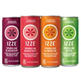 IZZE Sparkling Juice, 4 Flavor Variety Pack, 8.4 oz Cans, 24 Count (Tamaño: 24 Count Cans)