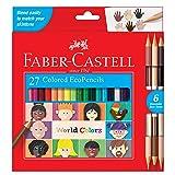 Faber-Castell World Colors Ecopencils, 27 Count - Diverse Skin Tone Colored Pencils for Kids (Color: Multicolor)