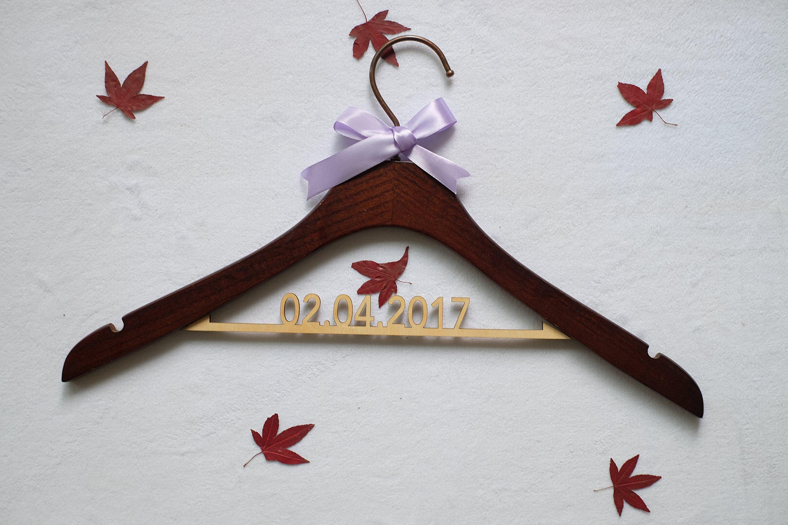 Wedding Dress Hanger Antique With Date Rustic Wood Wedding