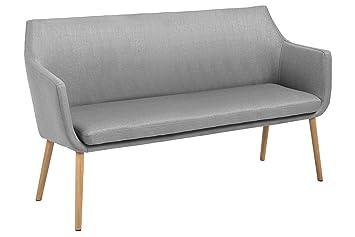 """SØRENSEN DESIGN Sofa """"Nora"""" hellgrau grau Wohnzimmer skandinavisches Design Stoff Polster Sofabank"""