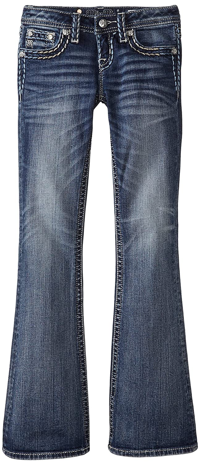 цена  Miss Me Big Girls' Ombre Metallic Stitch Boot Cut Denim Jean  онлайн в 2017 году
