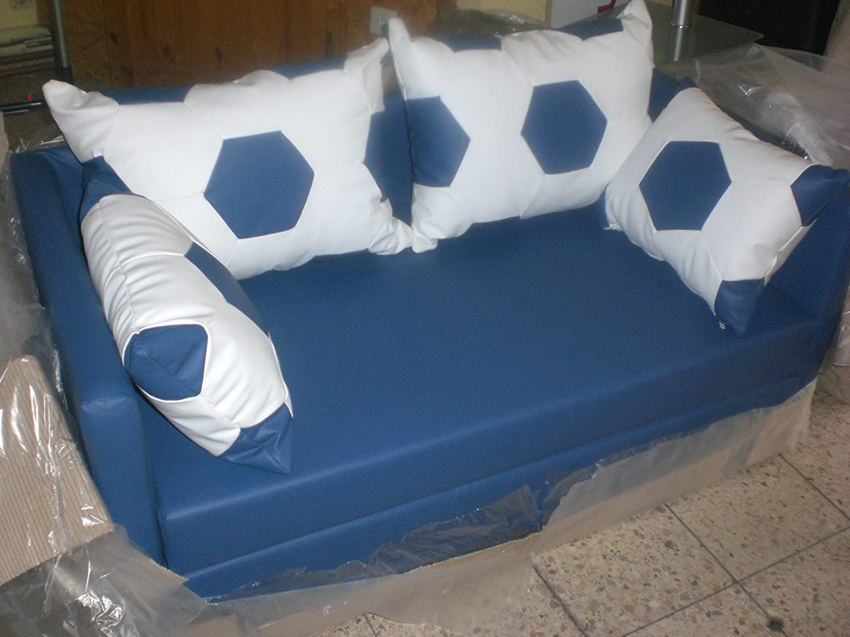 Schlafsofa Bambino weiß blau online kaufen