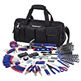 WORKPRO W009037A 322-Piece Home Repair Hand Tool Kit Basic Household Tool Set with Carrying Bag (Tamaño: 322-Piece)