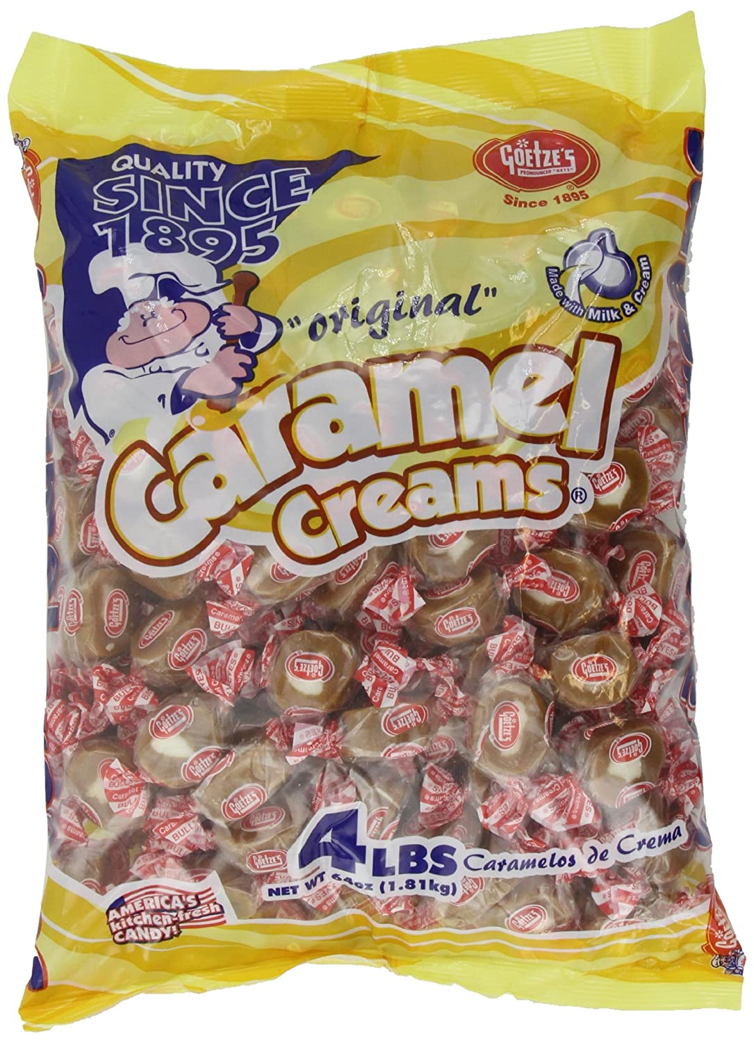 Goetze's Original Caramel Creams Bag 64oz
