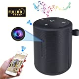 WIFI Hidden Camera Bluetooth Speaker 1080P HD Spy Cam Mini Nanny Cameras with Motion Detection Alarm, Bluemila Bluetooth Music Player Wireless Camera Video Recorder Up to 128G Support ios/Android/PC (Color: Black, Tamaño: Mini)