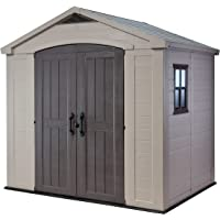 Keter Factor Resin Outdoor Garden Storage Shed (Beige)