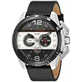 Diesel Men's DZ4361 Ironside Stainless Steel Watch with Black Leather Band (Color: Black, Tamaño: 1 pc)