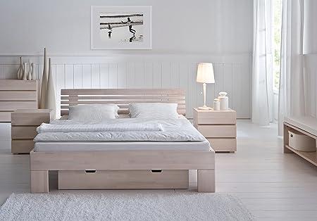 Stilbetten Bett Holzbetten Stilo Buche weiß lasiert 140x220 cm