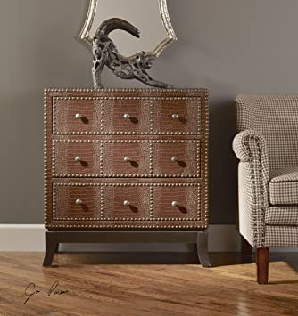 Faux Crocodile Alligator Accent Chest | Contemporary Furniture