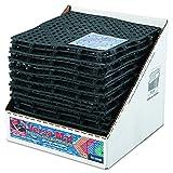 San Jamar VM5280BK Versa-Mat Bar-Shelf Liner, Plastic, 12w x 12d x 1/4h, Black (Case of 24) (Color: Black)