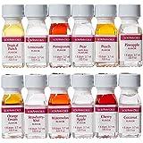 LorAnn Oils Gourmet Super Strength Fruit Flavors (No Oils) 1 Dram Variety Bundle #2 (Pack of 12)