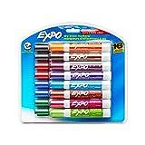 Set de marcadores de borrado en seco Expo, punta de cincel, bajo en olor  16 unidades colores variados