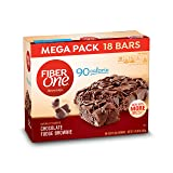 Fiber One Brownies, 90 Calorie Bar, Chocolate Fudge Brownie, 18 Fiber Bars Mega Pack, 16 oz (Tamaño: 0.89 Ounce (18 Count))