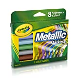 Crayola Metallic Markers, 8 Count (Color: Multicolor, Tamaño: 1 Pack)