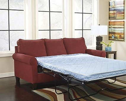 Zeth Crimson Tone Fabric Upholstery Contemporary Design Twin Size Sofa Sleeper