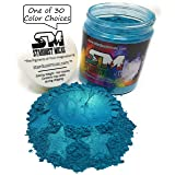 Stardust Micas Pigment Powder Cosmetic Grade Colorant for Makeup, Soap Making Dye, Wax, DIY Crafting Projects, Bright True Colors Stable Mica Batch Consistency Blue Lagoon (Color: Blue Lagoon, Tamaño: 72 Gram Jar)
