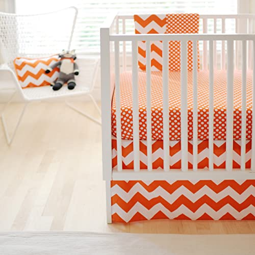 New Arrivals Zig Zag Baby 2 Piece Crib Bedding Set Tangerine