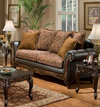 Chelsea Home Furniture Arlene Sofa, Silas Raisin/Bi-Cast Brown