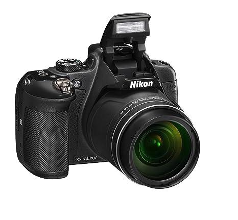 """NikonCoolpixP610 Appareil photo numérique compact, 16mégapixels, zoom 60x, 6400 ISO, LCD 7,62cm (3""""), Full HD, Wi-Fi, GPS, GLONASS, QZSS, Noir"""