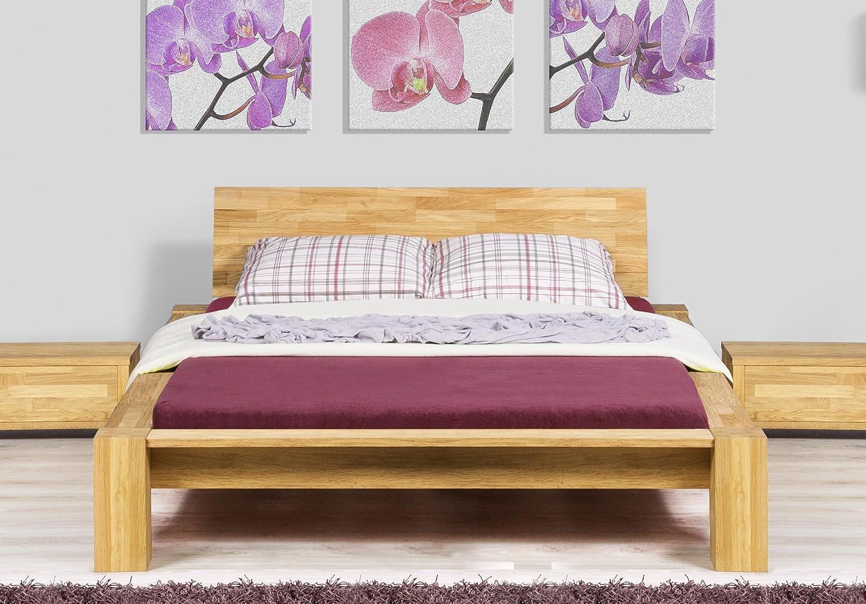 Stilbetten Bett Holzbetten Jena Eiche ohne Kissen high mit Bettkasten 180×200 cm günstig online kaufen