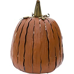 Desert Steel 12 in. x 18 in. Orange Great Pumpkin Lantern
