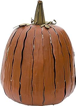 Desert Steel Orange Pumpkin Lantern