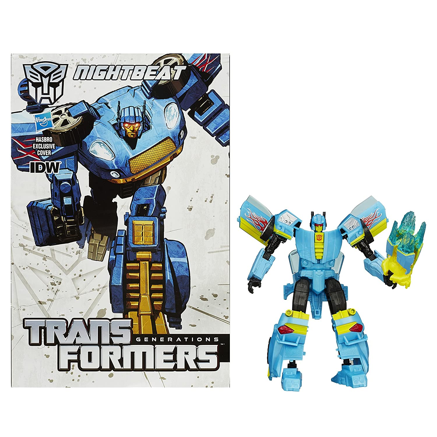 Transformers Generations Deluxe Class Nightbeat Figure transformers маска bumblebee c1331