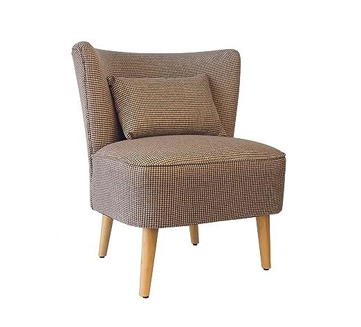 Sessel Einzelcouch Relaxsofa Polstersessel Retro Braun 8062