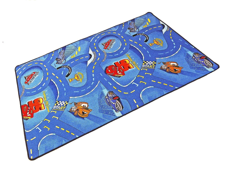 Kinderteppich Disney´s Cars blau Original Lizenz Spielteppich | 100970 jetzt bestellen