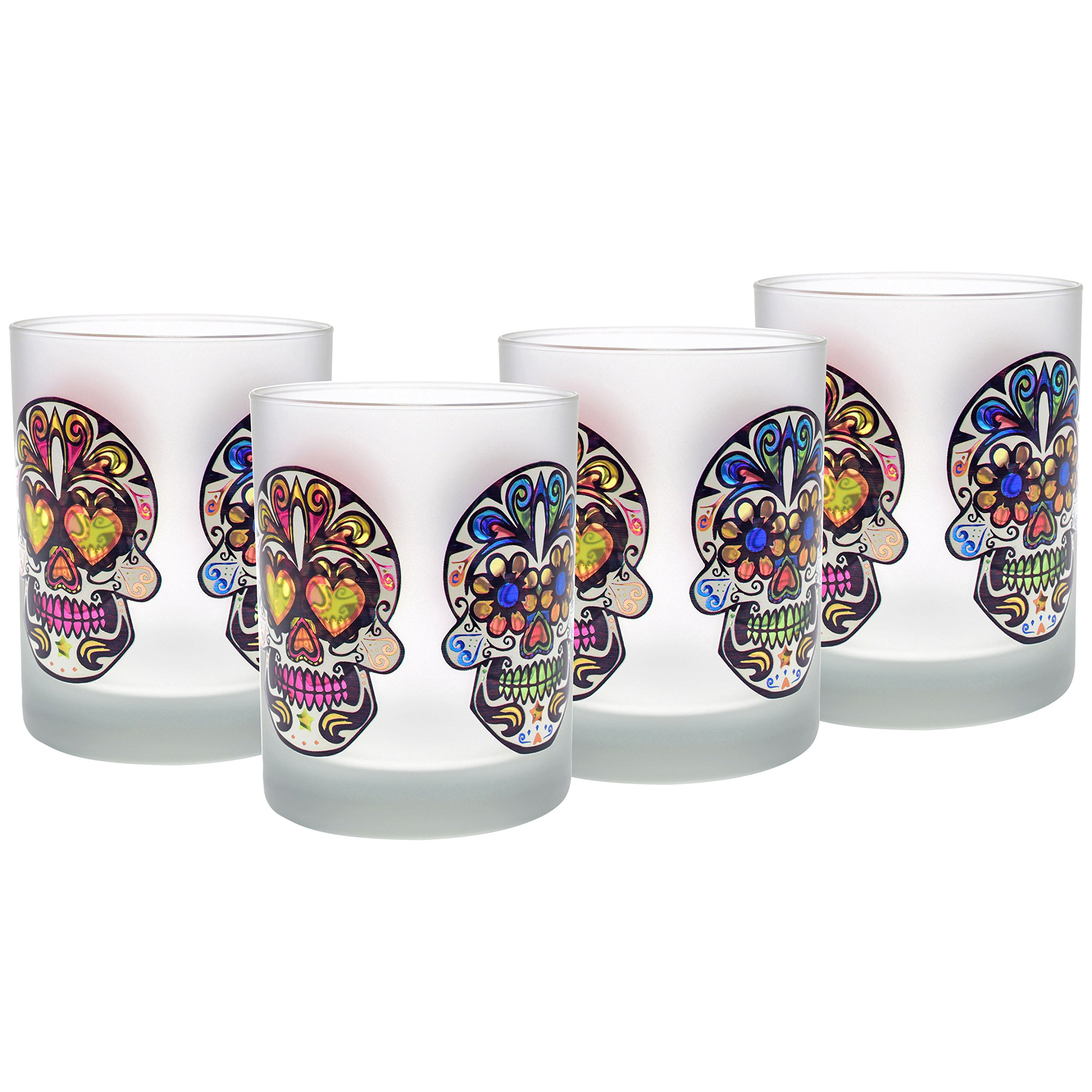 Decorated Sugar Skull Glasses