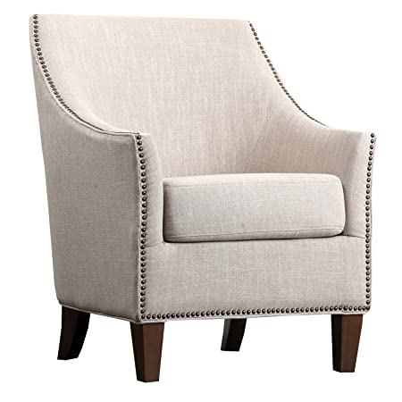 Abbyson Living Jennifer Fabric Nailhead Trim Armchair
