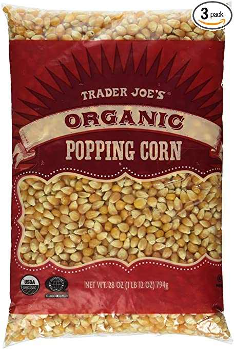 3 Packs Trader Joe's Organic Popping Corn Via Amazon