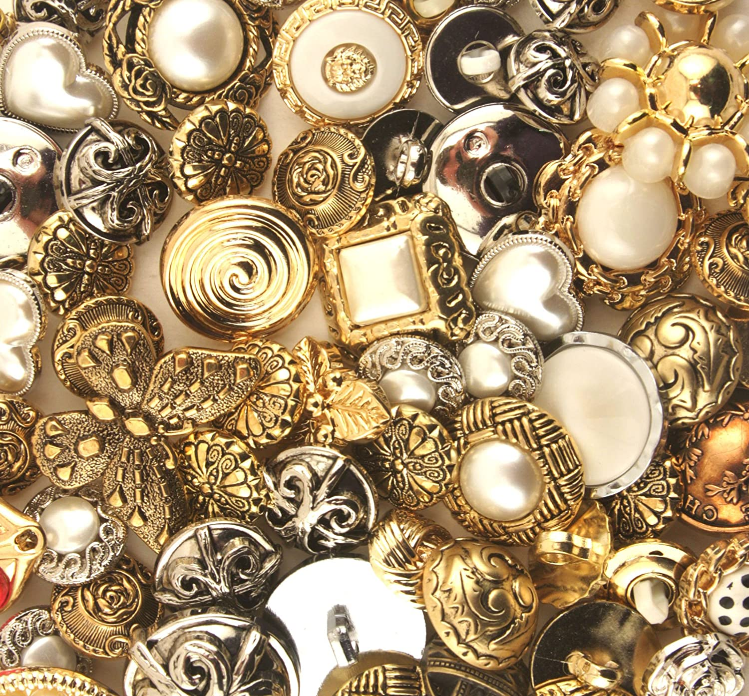 Buttons Galore Haberdashery Classic Gold/Silver