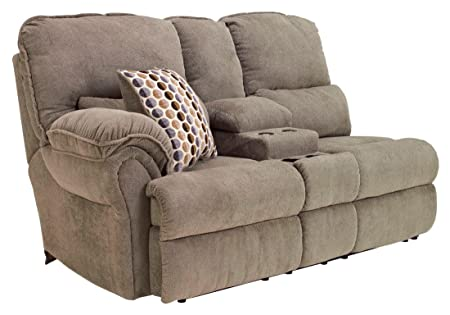 Comfort Commandor Mocha LAF Double Reclining Loveseat with Console