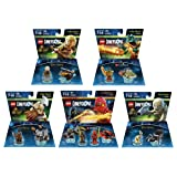 Ninjago Cole & Kai Team Pack + The Lord Of The Rings Legolas + Gimli + Gollum + The Legend Of Chima Cragger Fun Packs - LEGO Dimensions - Not Machine Specific