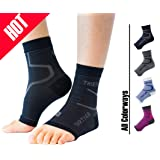 Thirty 48 Plantar Fasciitis Socks, 20-30 mmHg Foot Compression Sleeves for Ankle/Heel Support, Increasing Blood Circulation, Relieving Arch Pain, Reducing Foot Swelling (Color: Black (1 Pair), Tamaño: Large)
