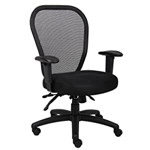 Boss Office Products Contoured Mid-Back Mesh Task Chair width=