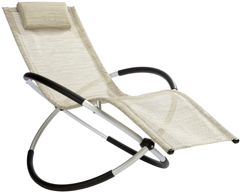 leco alu schaukelstuhl aluminium kunststoffgewebe 4 x 4 natur liegen ergonom ebay. Black Bedroom Furniture Sets. Home Design Ideas