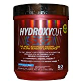 MuscleTech Hydroxycut SX-7 Weight Loss Supplement & Pre Workout For Men & Women With Green Coffee Extract & Raspberry Ketones, Blue Raspberry Blast, 50 Servings
