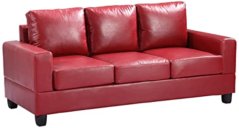 Glory Furniture G309A-S Living Room Sofa, Red